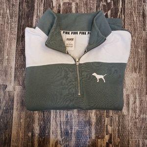 PINK Victoria's Secret half-zip sweatshirt, size l
